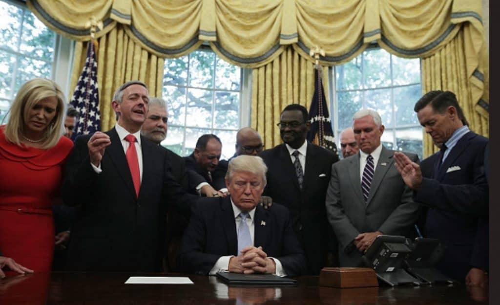 Praying for President Trump