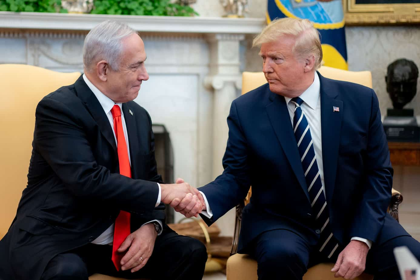 Honoring the friendship between President Trump and Israel and his steps towards Middle East peace